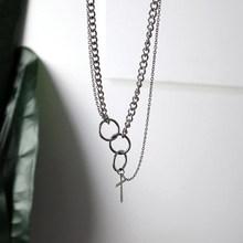 Hip hop łańcuch mężczyźni kobiety para ze stali nierdzewnej naszyjnik wodoodporny Link Curb naszyjnik łańcuszkowy hip hop biżuteria krzyż naszyjnik łańcuch(China)