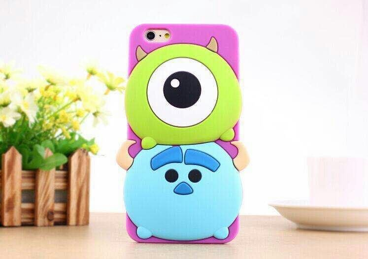 3D Cute Cartoon Monsters University Silicone Case iphone 6 4.7 inch Cover Mike Big Eye plus 5.5 - Easy Transaction store