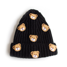 2016 Fashion Trendy Quality Charactor Bear Beanies for women Lovely Bear Knitting Hats Caps(Hong Kong)