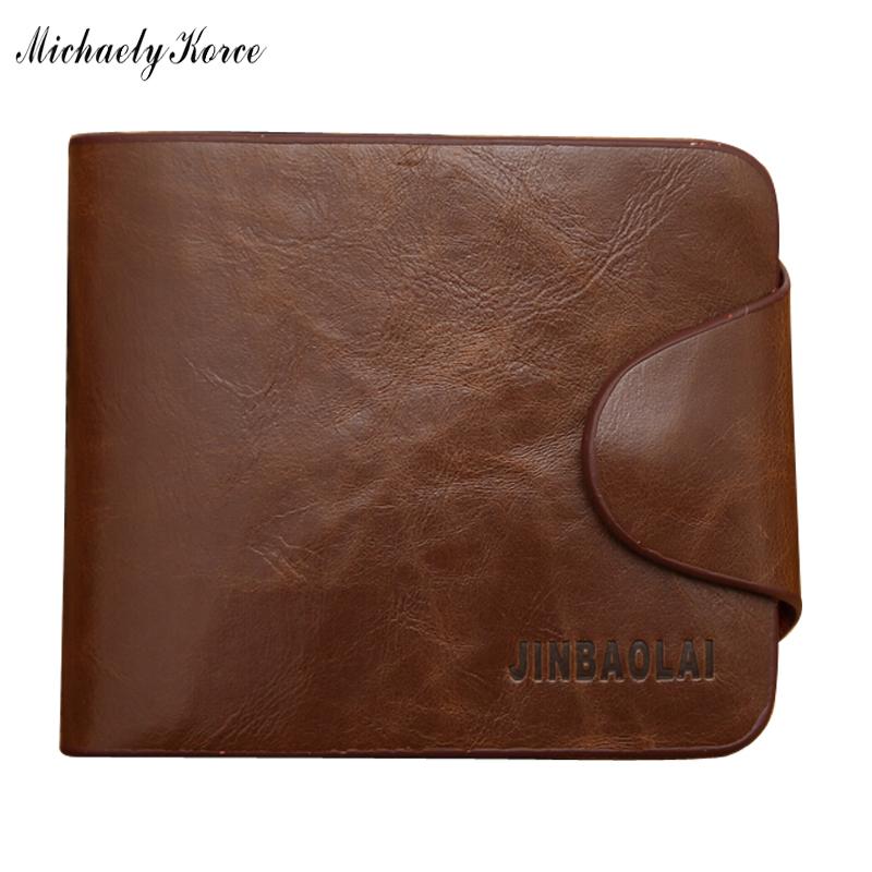 Hot Sale 100% Real Crazy Horse Leather Short Wallet Brown Men Walet Bilfold Inner Zipper Pocket Vintage Male Purse ID Card Case<br><br>Aliexpress