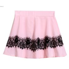 Free shipping Girls Fashion Skirt 2015 new style Childrens Lace Skirts Baby girls Party skirts High Quality 38