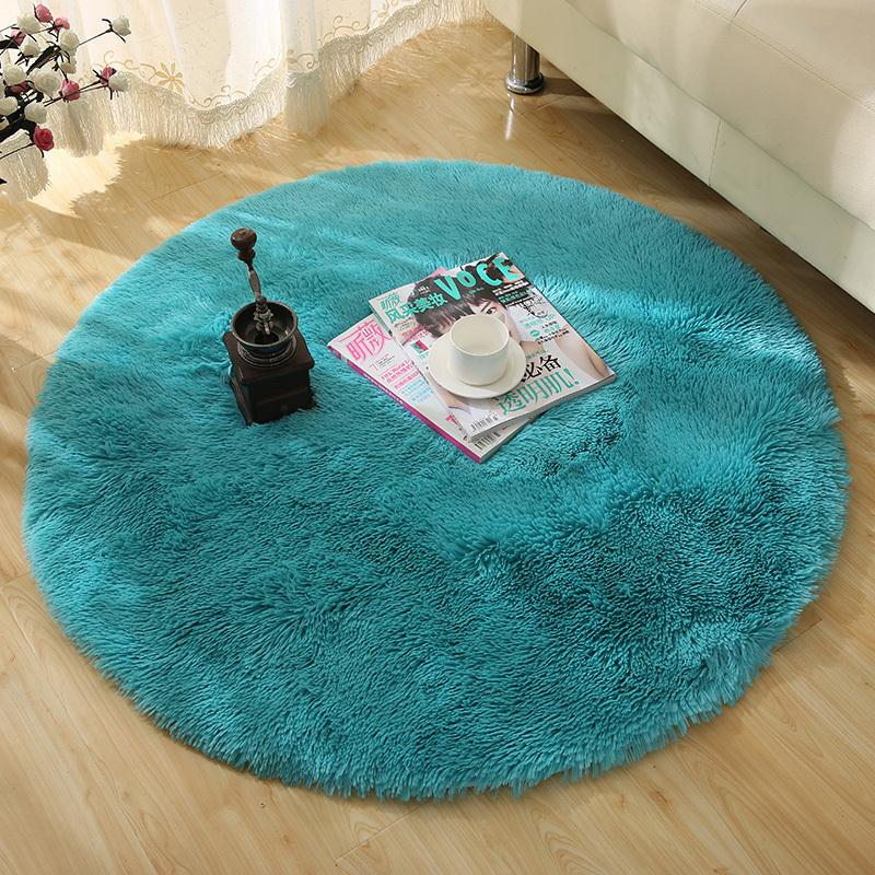 160cm Large Long Plush Shaggy Soft Round Carpet Non Slip
