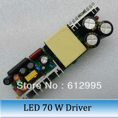 70 w power driver High efficient PF value constant current isolated LED drive power supply 10 series 7 parallel CE