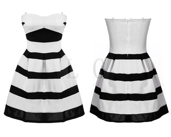 Black Bubbles Bubble Dress Black/white