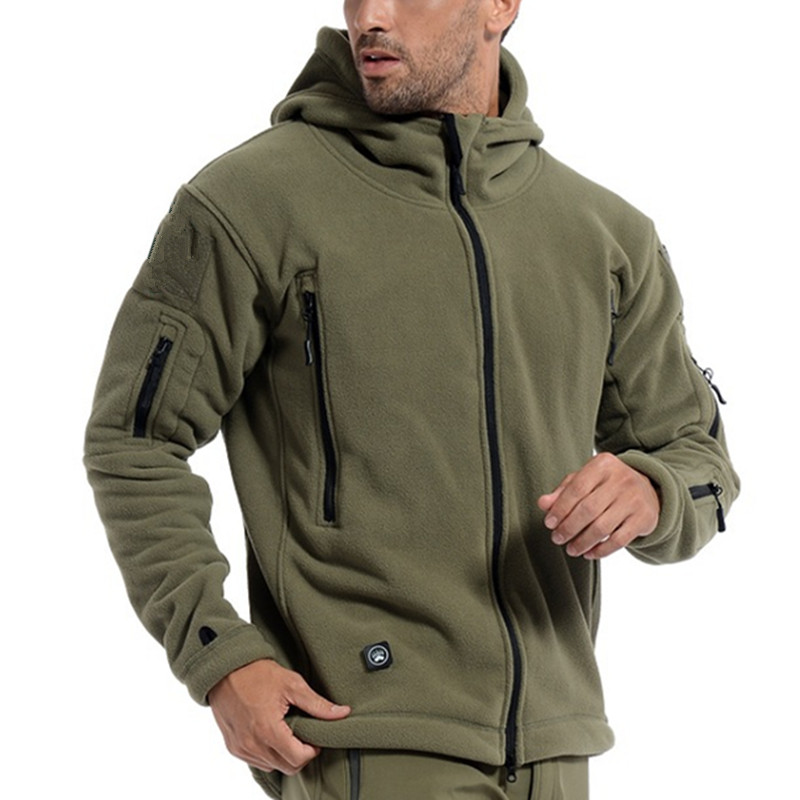 US Military Fleece Tactical Jacket Men Thermal Outdoors Polartec Sport Hooded Coat Militar Softshell Hiking Outdoor Army Jackets(China (Mainland))