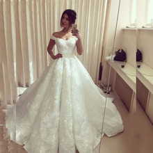 Buy Lace Wedding Dress Ball Gown Long 2016 Turkey Shoulder Weddingdress China Bridal Dress Bride Wedding Gowns robe de mariage for $200.98 in AliExpress store