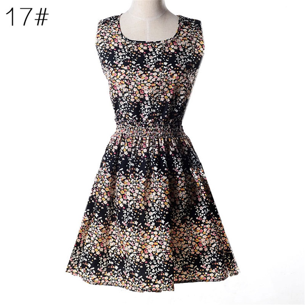 Fashion Tunic Women Dress 2016 Plus Size XXL O-neck WOMEN DRESS Summer Style Floral Print Casual Dresses Women Vestidos Woman (43)