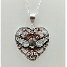 2016 New Mechanical Gear Heart Necklace Steampunk Clock Heat Jewelry Silver Heart Shaped Necklaces(China (Mainland))
