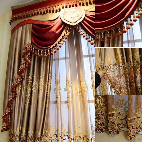 2016 fashion new design luxury window elegant valance New curtain design 2017