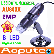 2MP 2 Mega píxeles de 800X 8LED USB microscopio Digital lupa del endoscopio cámara cmos, para Mac OS win7 y el 8 del envío de la gota