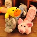 2016 New Small Medium Big Dog Toys Pet Puppy Chew Squeaker Squeaky Plush Sound Duck Pig