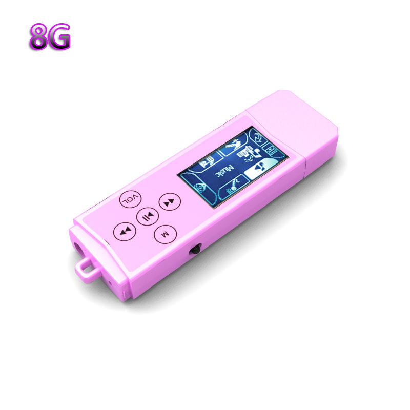 Wholesales!! Brand New 8GB MP3 Player Popular LCD screen mini USB MP3 music Player With Clip 8 Colors Flash Drive FM Radio(China (Mainland))