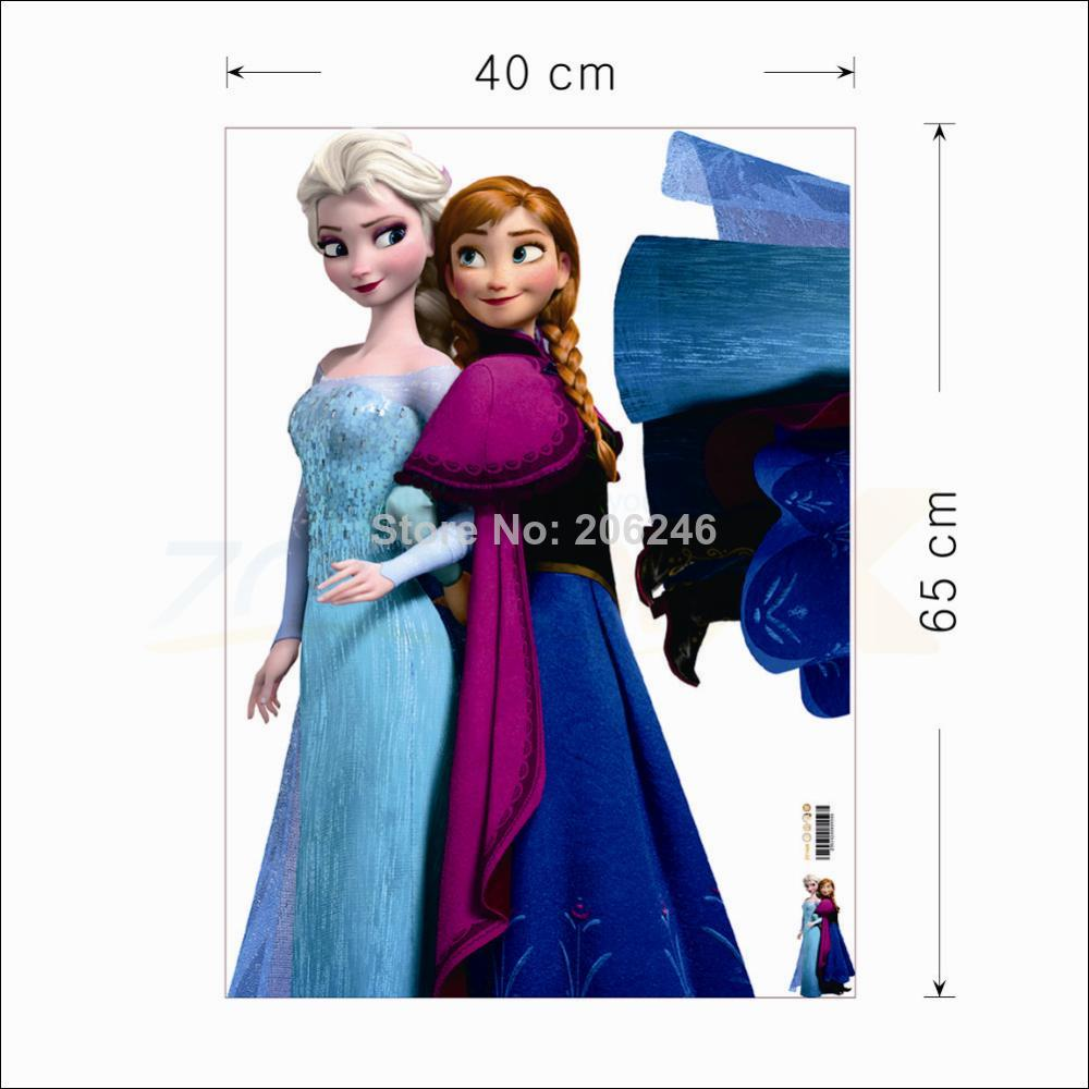 hot selling movie decals snow queen princess cartoon stickers kids room wall decals children sticker home