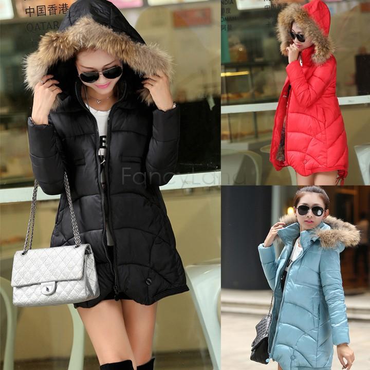 Hot Selling Warm jackets Thicken Coats Women Down Jacket Hooded Fur Collar Winter Outerwear Long Parkas Zipper Outerwear SV02
