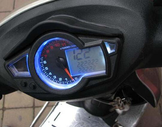11 K RPM жк-дисплей цифровой пробега спидометр тахометр мотоцикл ж / подсветка