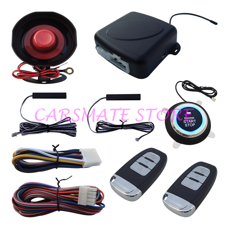 PKE Car Alarm System With Push Button Start Car Engine & Remote Control Start Car Engine Function Stock In USA & Australia(China (Mainland))