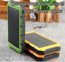 10000mAh Sun PowerBank 15000 mah External Battery Pack Waterproof Solar Power Bank 2A Output Portable Charger Solar Powerbanks