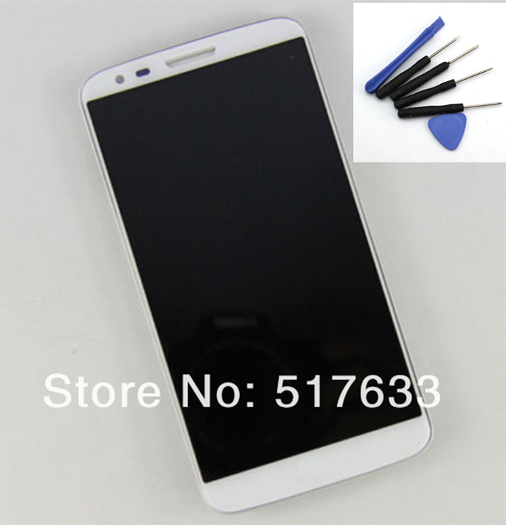 For LG Optimus G2 D802 D805 Front LCD Display +Touch Screen Digitizer Assembly + Frame+tools.white, Free shipping +tracking No.