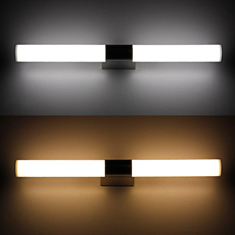 Contemporary Style 100CM Long Bathroom Over Mirror LED Tube Light 24W  Acrylic Led Wall Lamps Indoor