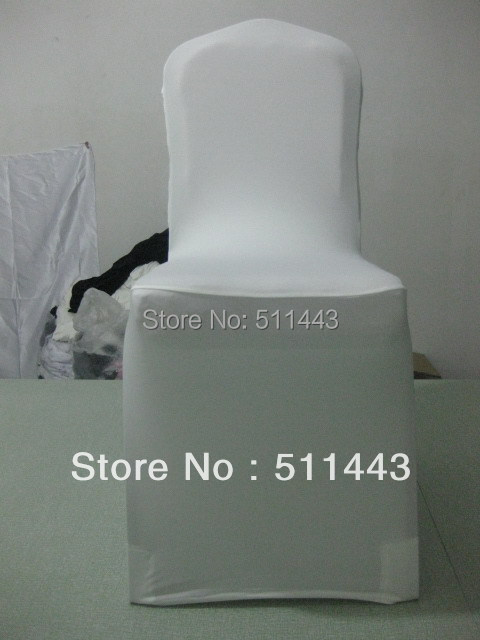 Free Shipping 100pcs Big Discount White Flat Bottom Stretch Spandex Lycra Chair Cover For Banquet and Wedding(China (Mainland))