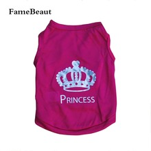 Buy FameBeaut Pet Dog Clothes Crown Pattern Puppy Clothing Coat Vest Cotton T-Shirt Dogs Clothes High for $1.24 in AliExpress store
