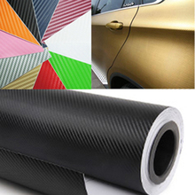 300cmx60cm Waterproof DIY Car Stickers Decor Car Styling 3D 3M Auto Vehicle Car Carbon Fiber Vinyl Wrapping Roll Film(China (Mainland))