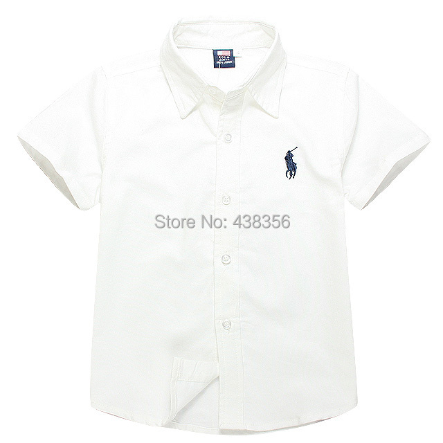 2015 new arrival fashion solid white shirt short sleeve with embroidery(China (Mainland))