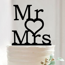 Buy FREE SHIPPING+Mr Love Mrs Design Wedding Party Decoration Favors Acrylic Cake Topper Birthday Party Anniversary Cupcake Stand for $7.99 in AliExpress store