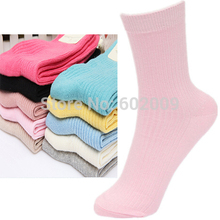 20pairs=1 lot Casual fashion solid color cotton mid tube women socks high quality sport socks Free Shipping MF462684651