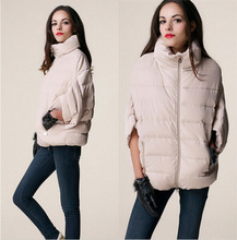 New Winter Down Parkas Short Design Bat Sleeve Women Jacket Fashion Thicken Warm Coat Female Clothing Parka Casual Overcoat 128