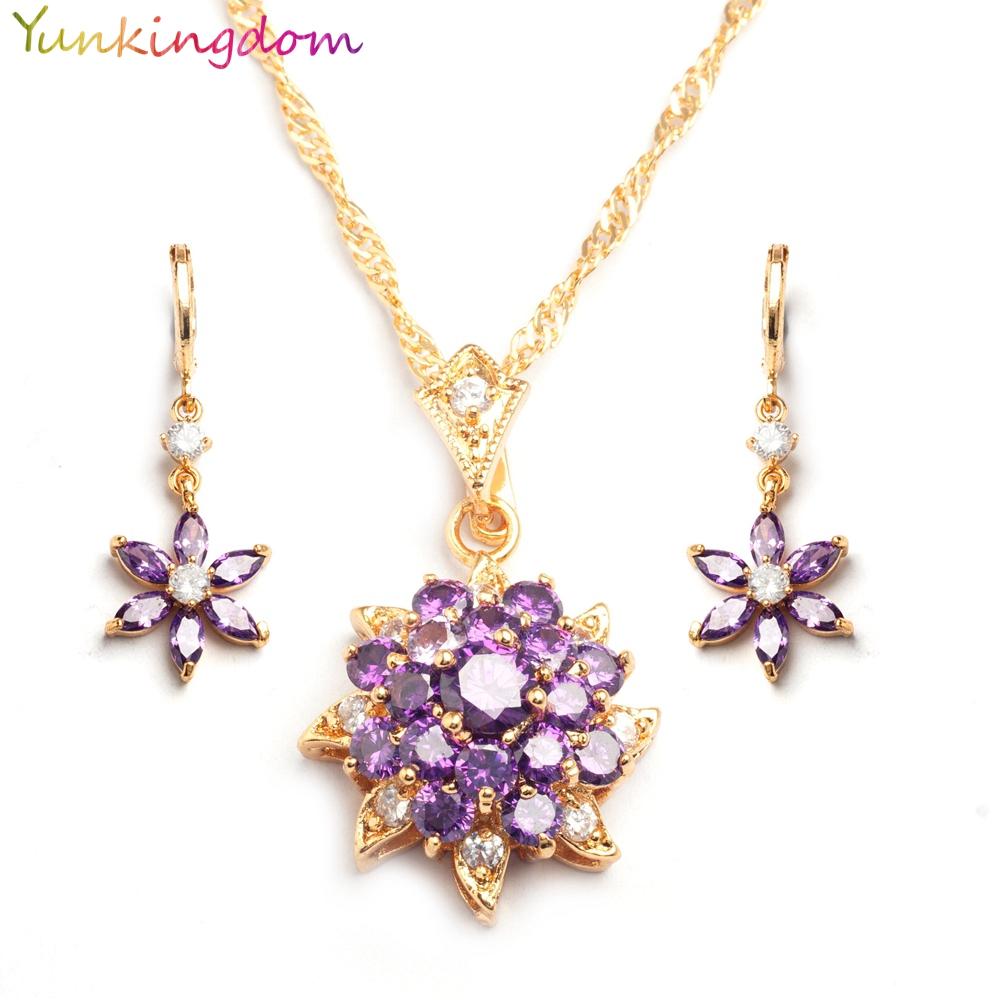 yunkingdm studded amethyst jewelry sets grand wedding