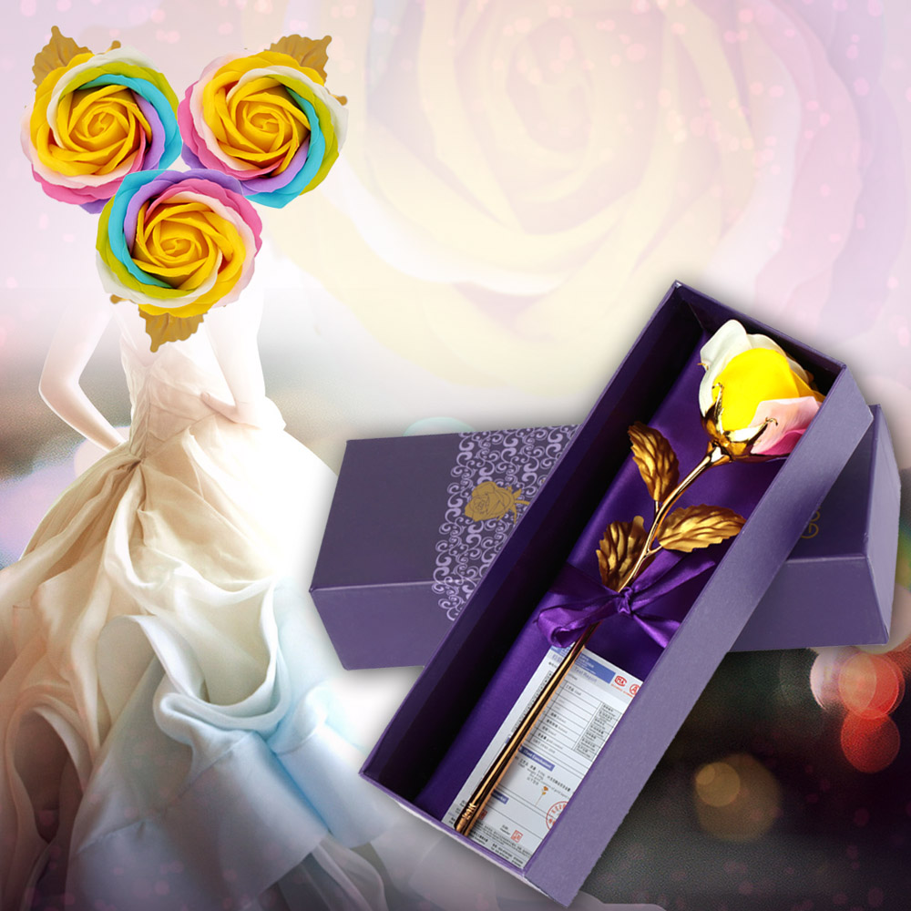 Real-Like Simulation Artificial Colorful Rose Soap Flower for Wedding Bridal Party Home Decoration Valentine's Mother's Day Gift(China (Mainland))