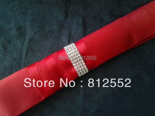Tableau de mariage décoration argent strass cristal rond de serviette ...