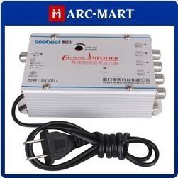 4 Way TV VCR Antenna Signal Amplifier Booster Splitter 5pcs/lot #OT292