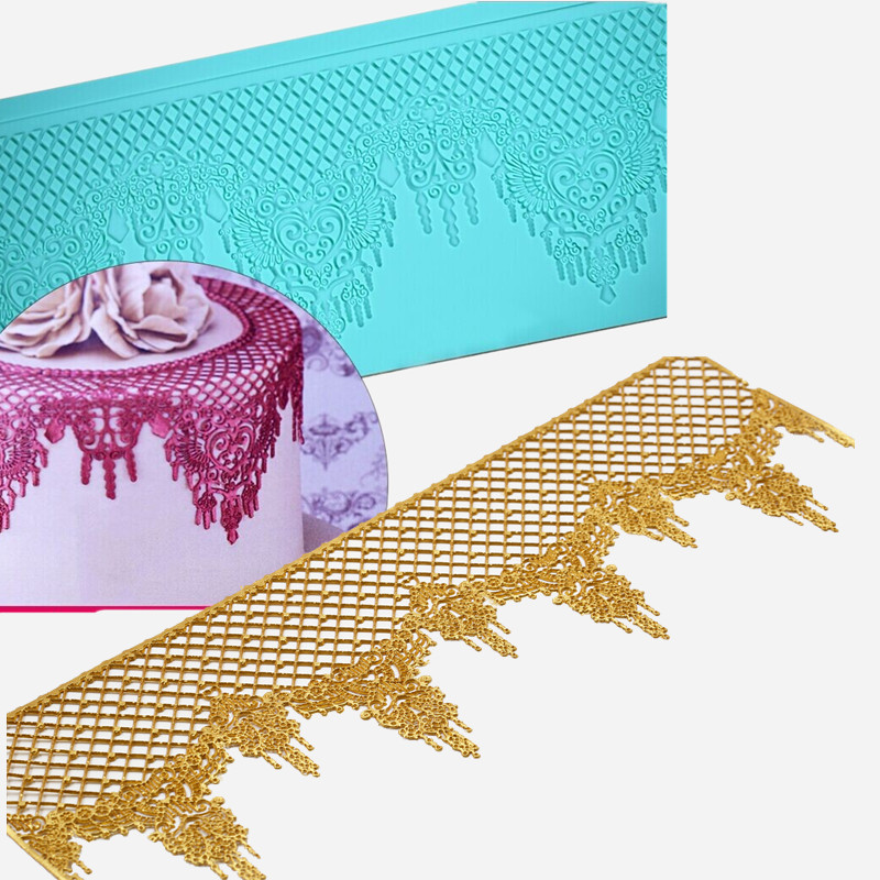 Sugarcraft Lace Silicone Molds Tiara Fondant Cake Decorating Tools Fancy Wedding Decorations Cupcake Cooking Tools(China (Mainland))