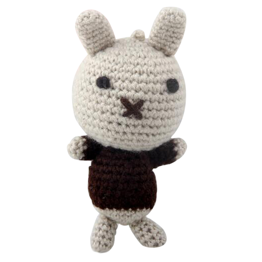 Handmade DIY Rabbit Doll Toy Crochet Kit Amigurumi Kit for Kids Beginners Crafts