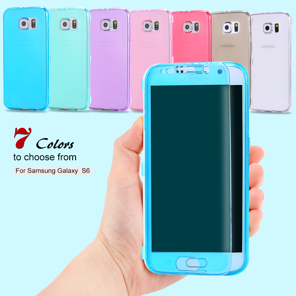 For Samsung S6 Cases Fashion Ultra Flip Soft TPU Gel Case For Samsung Galaxy S6 G9200 Slim Full Crystal Clear Back Cover Bag S6(China (Mainland))
