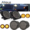 1Pair Car LED Front Fender Turn Singal Lights 12V LED Side Marker Lamp Bulb Kit For