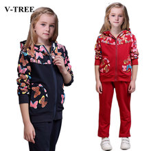 Buy V-TREE Spring girls clothing sets costume kids tracksuit girl sport suit children school uniform teenagers clothes set for $16.06 in AliExpress store