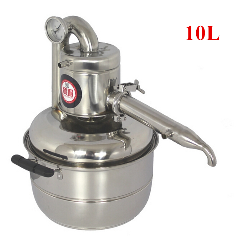Free Shipping New Arrival 10L Water Alcohol Distiller Home Brew Kit Distiller Wine Making Essential Oil Boiler(China (Mainland))