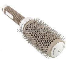 45mm Ceramic Iron Radial Round Comb Hair Dressing Brush Salon Styling Barrel free Shipping(China (Mainland))