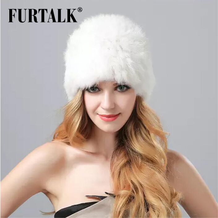 2015 rex rabbit fur knitted hat stripe rabbit fur cap for winter pineapple hat Russian women fur hats(China (Mainland))