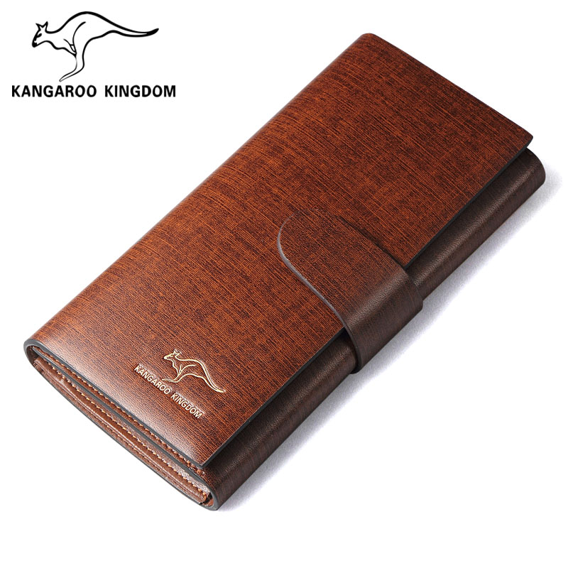 Phalanger quality cowhide male wallet long design wallet genuine leather purse multifunctional wallet
