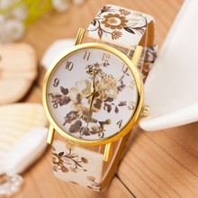 Women Watch 2015 New Fashion Trendy Colorful Flower Quartz Watch Ladies Geneva Watch Popular Style Women Casual Watch Wristwatch