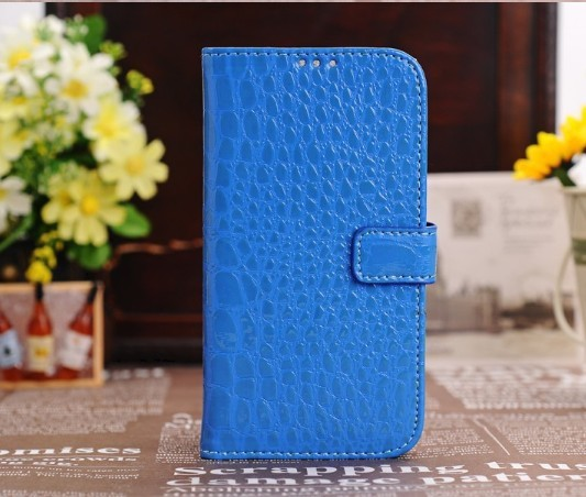 DHL Free Shipping New Arrival Croco Leather Wallet Case Pouch for Samsung Galaxy s4/I9500 More color in stock