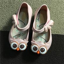 Mini Melissa 2016 Summer Style Kids Belt Rain Shoes OWL Ornament Rubber Cute Toddler SandalS Buckle Slipper 4 Colors TS21(China (Mainland))