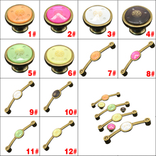 1 Pair Vintage Bronze Zinc Alloy Cabinet Door Drawer knob Pull Handle(China (Mainland))