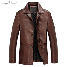 Fashion Men Leather Jackets Autumn & Spring PU Leather Clothes Soft Sheepskin Business Casual Coats For Men Male Biker Jackets(China (Mainland))