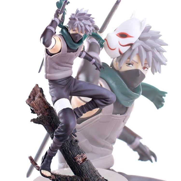 Naruto Hatake Kakashi PVC Action Figure The Dark Kakashi Figures Collectible Toy 24CM Free Shipping(China (Mainland))