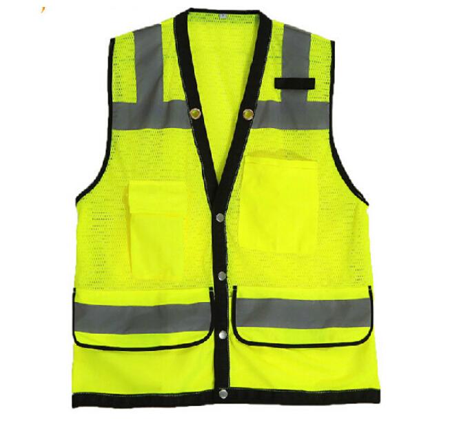 Сетка светоотражающий жилет безопасности дорожного движения жилет высокой видимости аварийный жилет санитарии рабочий жилет безопасности